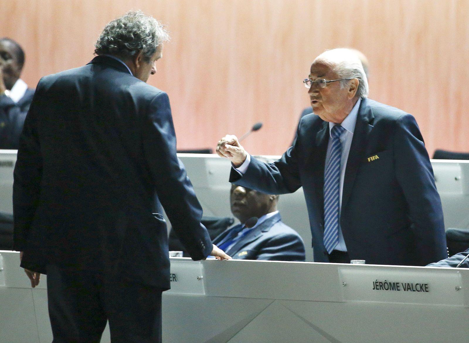 Michel Platini / Sepp Blatter