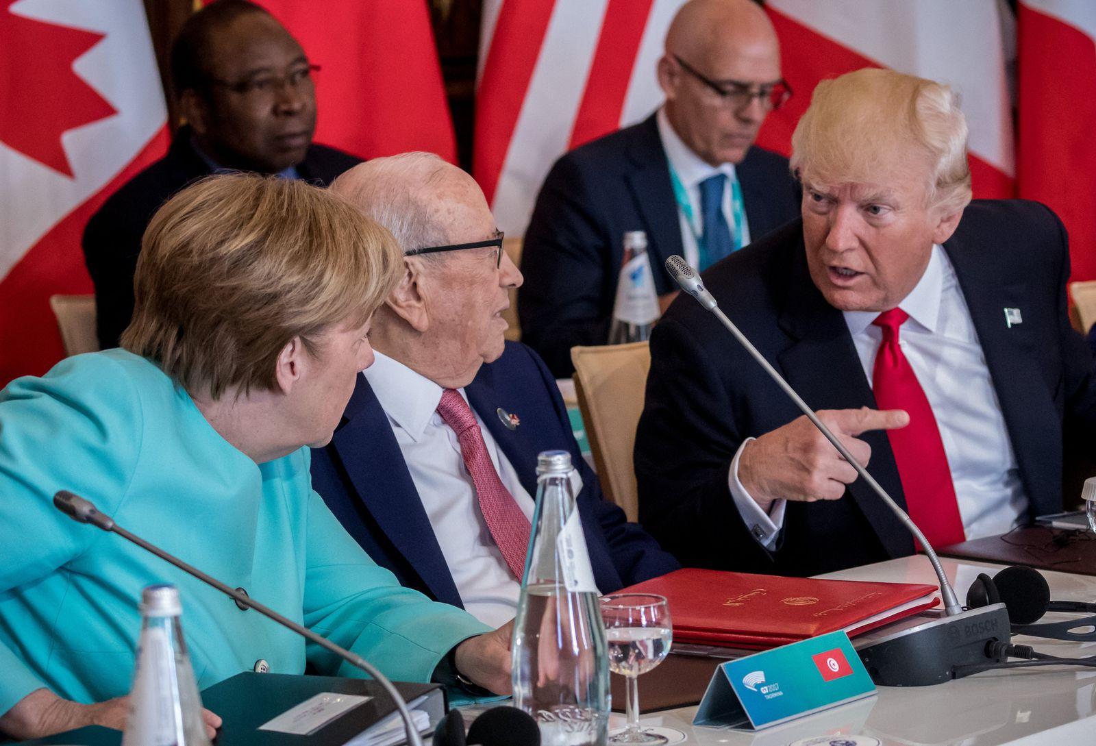 G7-Gipfel in Sizilien/ Trump/ Merkel