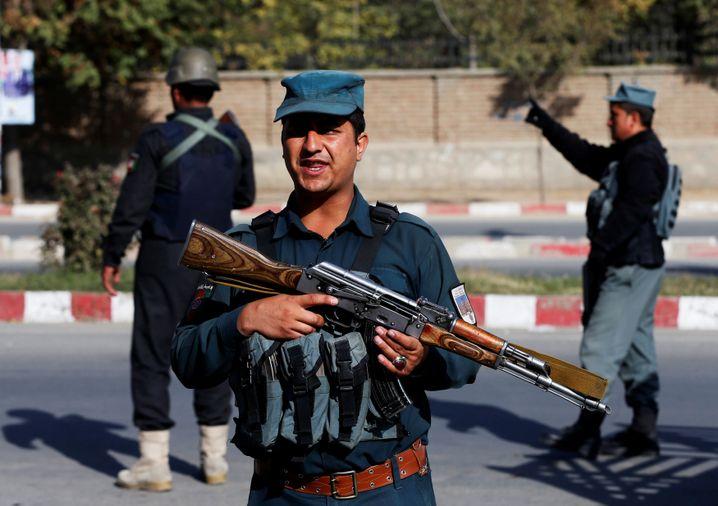 Sicherheitskräfte der afghanischen Regierung in Kabul