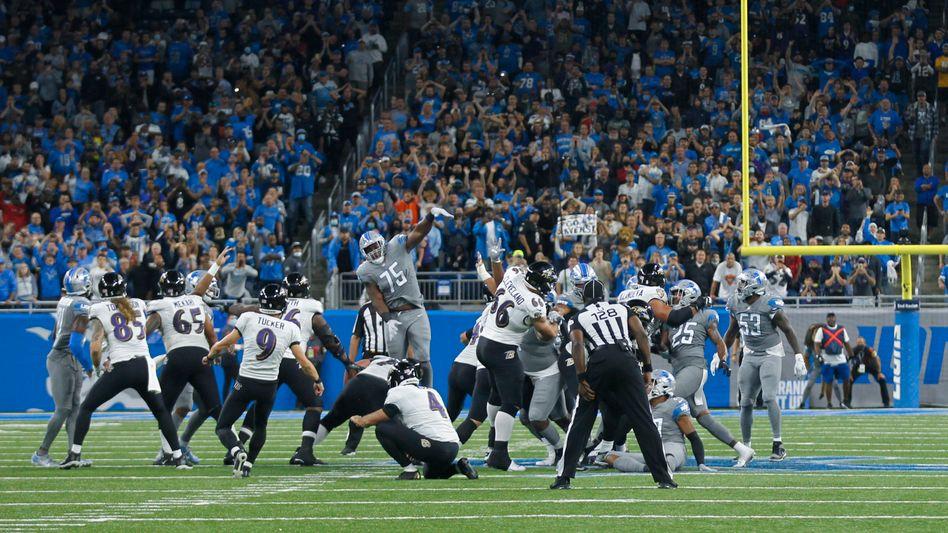 66 Yards von Justin Tucker: Länger war kein Field Goal in der Geschichte der NFL