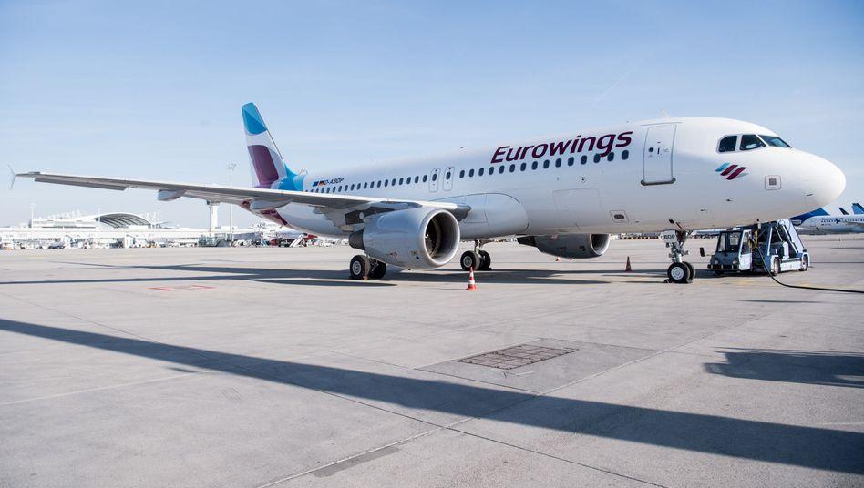 Eurowings-Flugzeug am Flughafen München