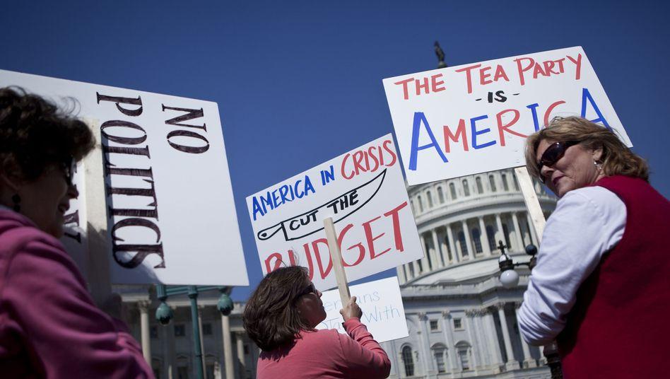 Protest der Tea Party im April 2013: Spalten sich die Republikaner?