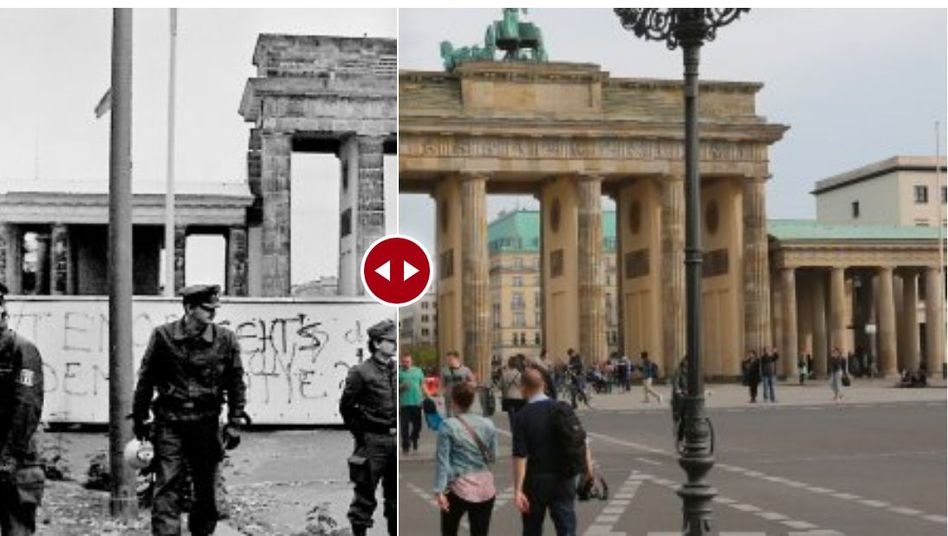 Berlin before and after the wall