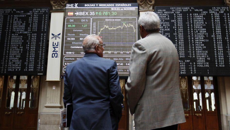 """Börse in Madrid: """"La crisis"""" ist nicht zu stoppen"""