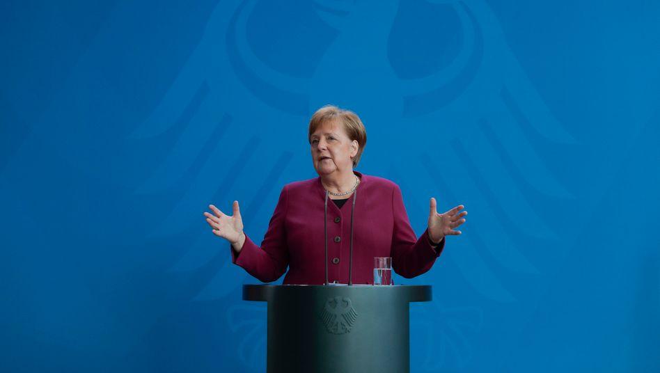 """Bundeskanzlerin Angela Merkel: """"Denn wir können sehr schnell das zerstören, was wir erreicht haben"""""""