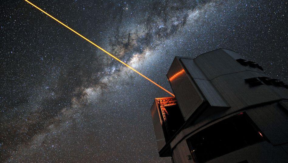 22-Watt-Laser an der Europäischen Südsternwarte