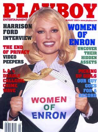 "Playboy-Cover mit den ""Women of Enron"" ..."