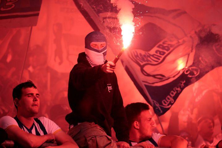 Hertha-Fans in Braunschweig