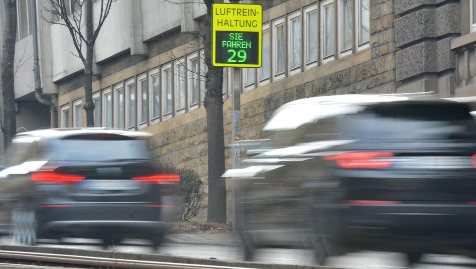 Geschwindigkeitsanzeige in Stuttgart