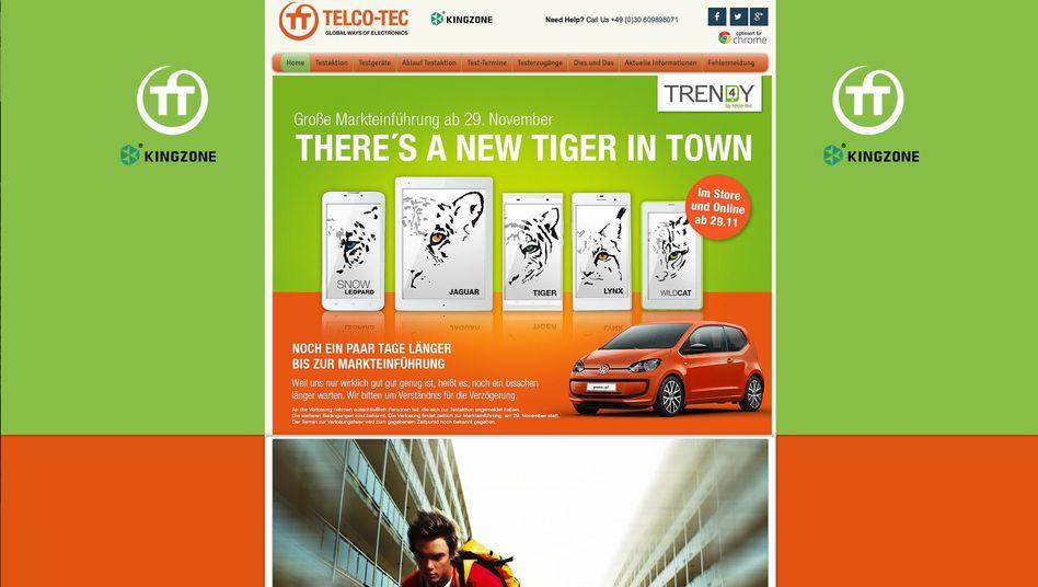 Website der Firma Telco-Tec: Dubioser Onlinehandel
