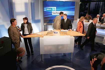 ARD-Wahlstudio: Hilflose Reaktionen auf NPD-Auftritte