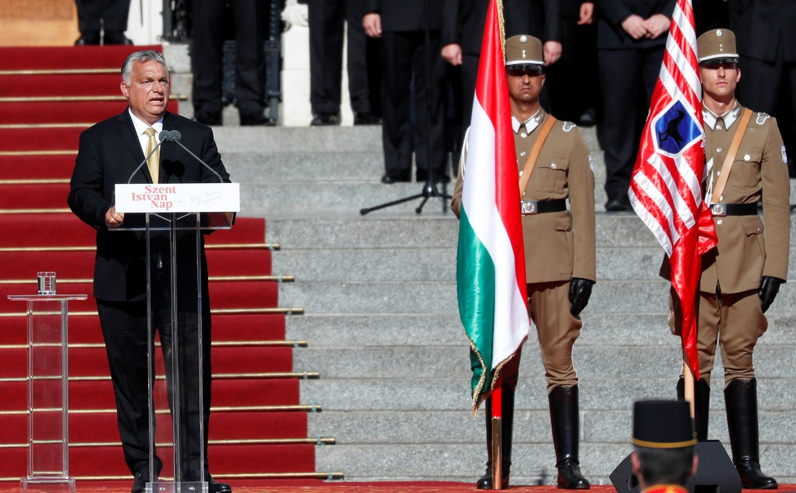 Unveiling ceremony of the 'Memorial of National Unity' in Budapest