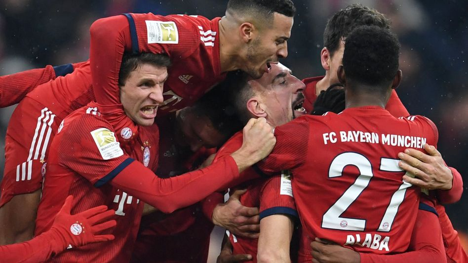 Bayerns Spieler jubeln