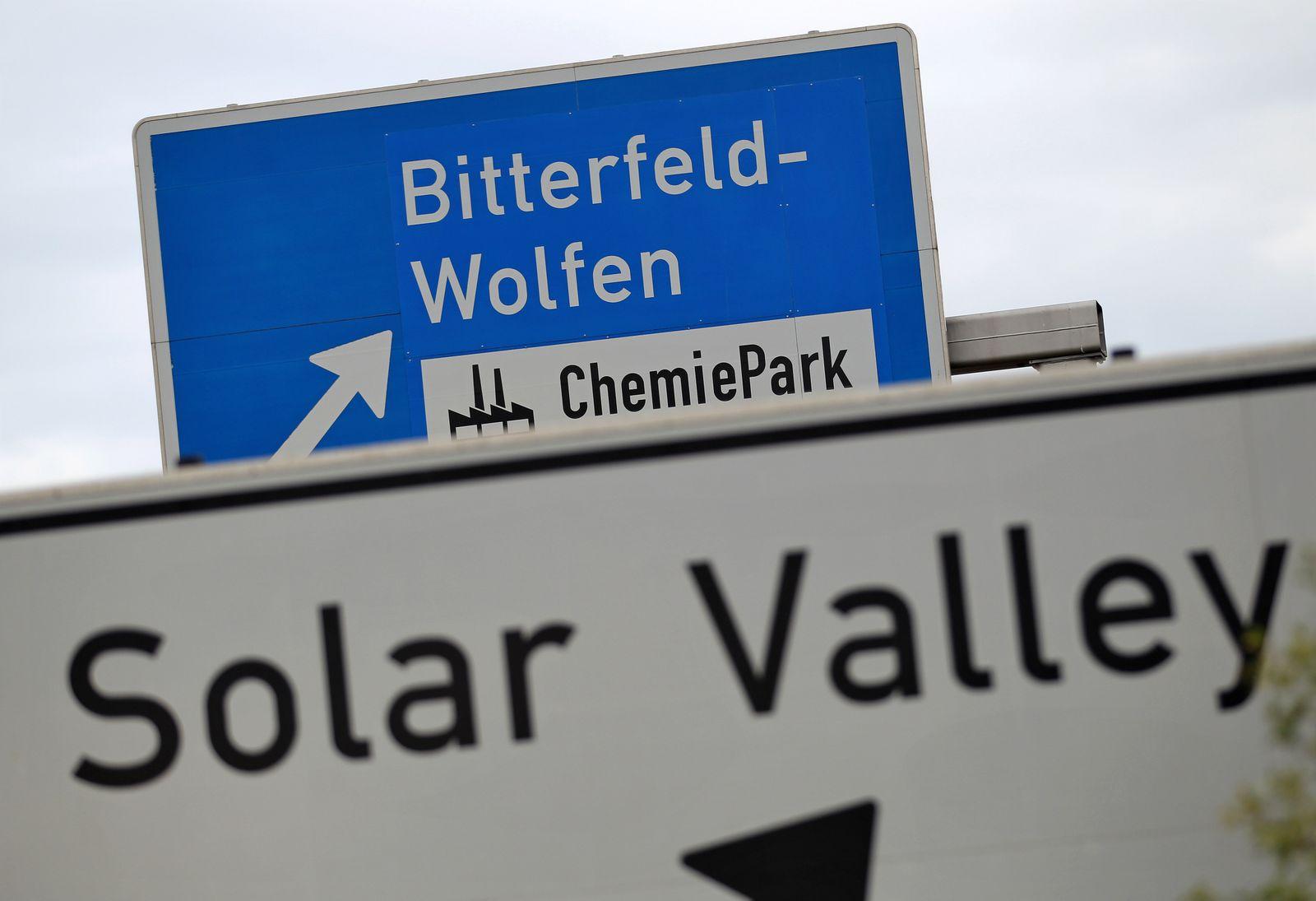 Industriegebiet Solar Valley in Bitterfeld-Wolfen