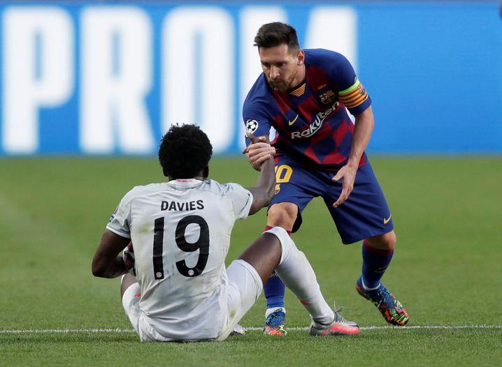 Davies' Duellpartner: Barcelonas Lionel Messi