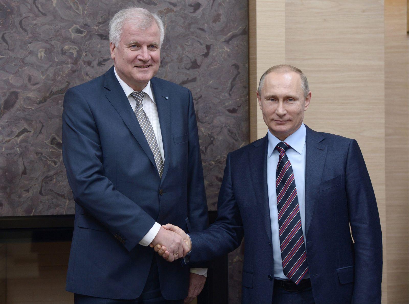 Vladimir Putin, Horst Seehofer