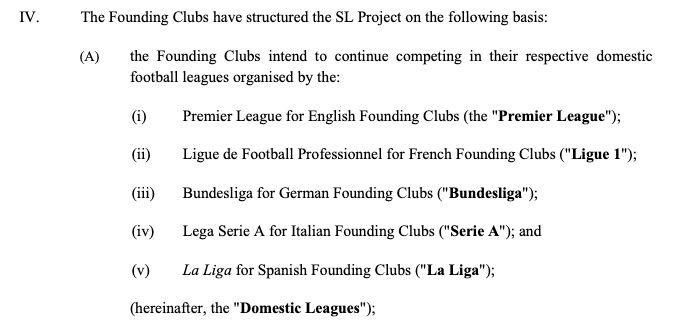 Super League / Vertrag