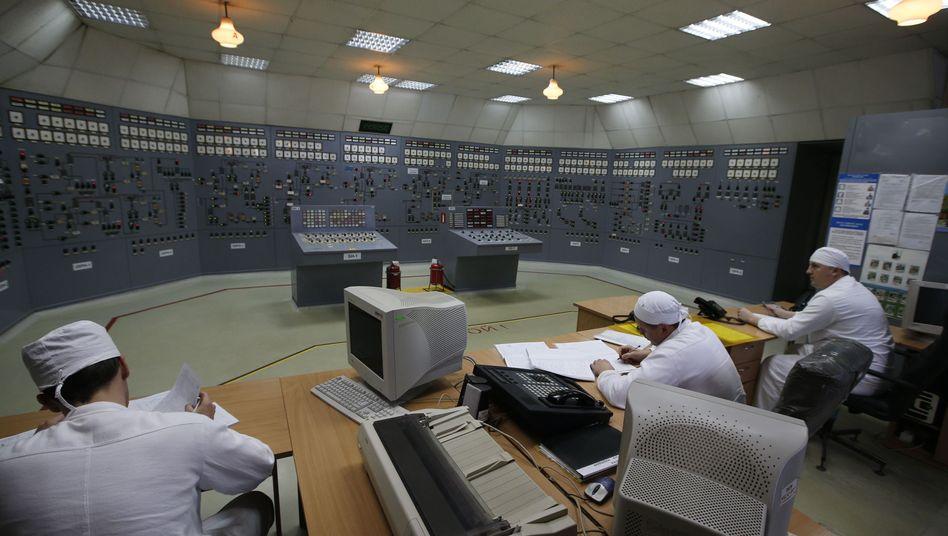 Kontrollraum des AKW Saporischja: Erneut eine Panne gemeldet