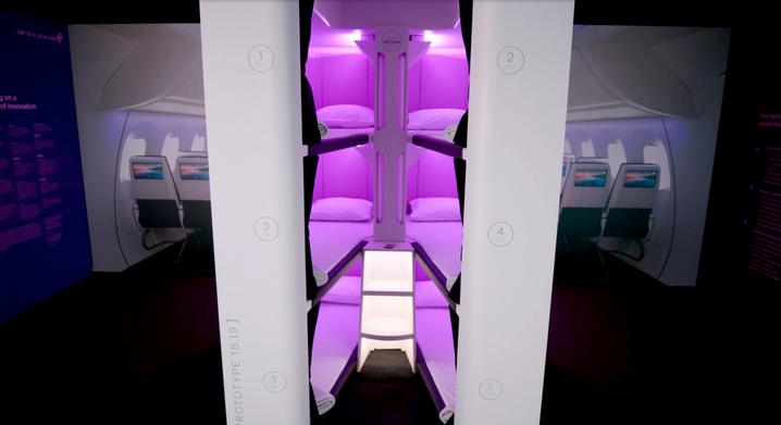 Sechs Betten pro Flugzeug könnten künftig Economy-Passagieren zur Verfügung stehen