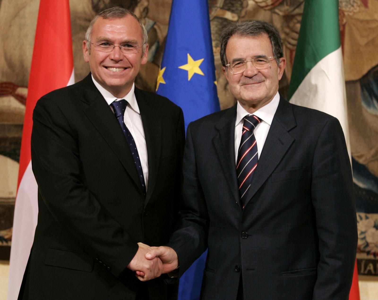 Alfred Gusenbauer/ Romano Prodi