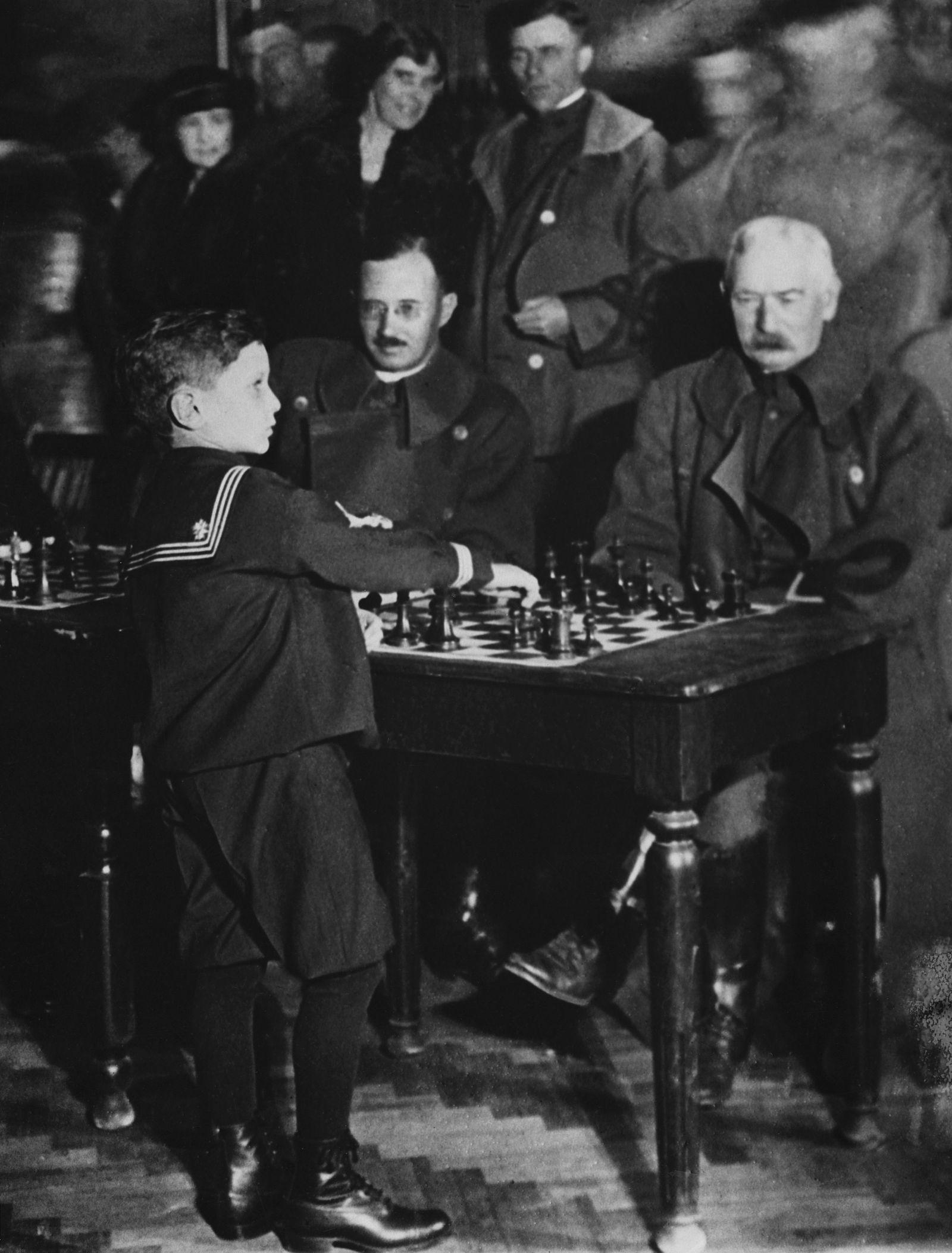Samuel Rzehzowski(Reshevsky), Chess Prodigy At Age Of Six