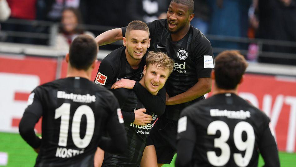 Eintracht Frankfurt feiert