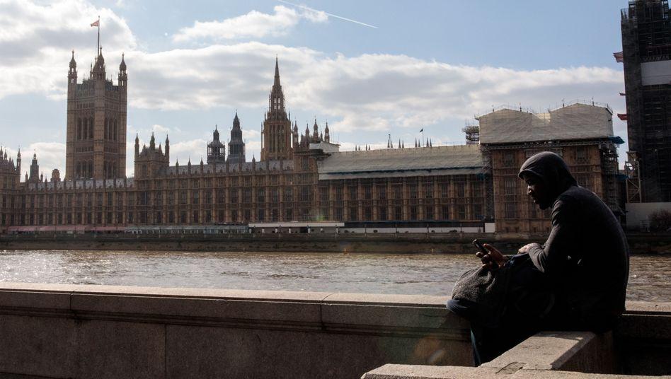 Das britische Parlamentsgebäude in London