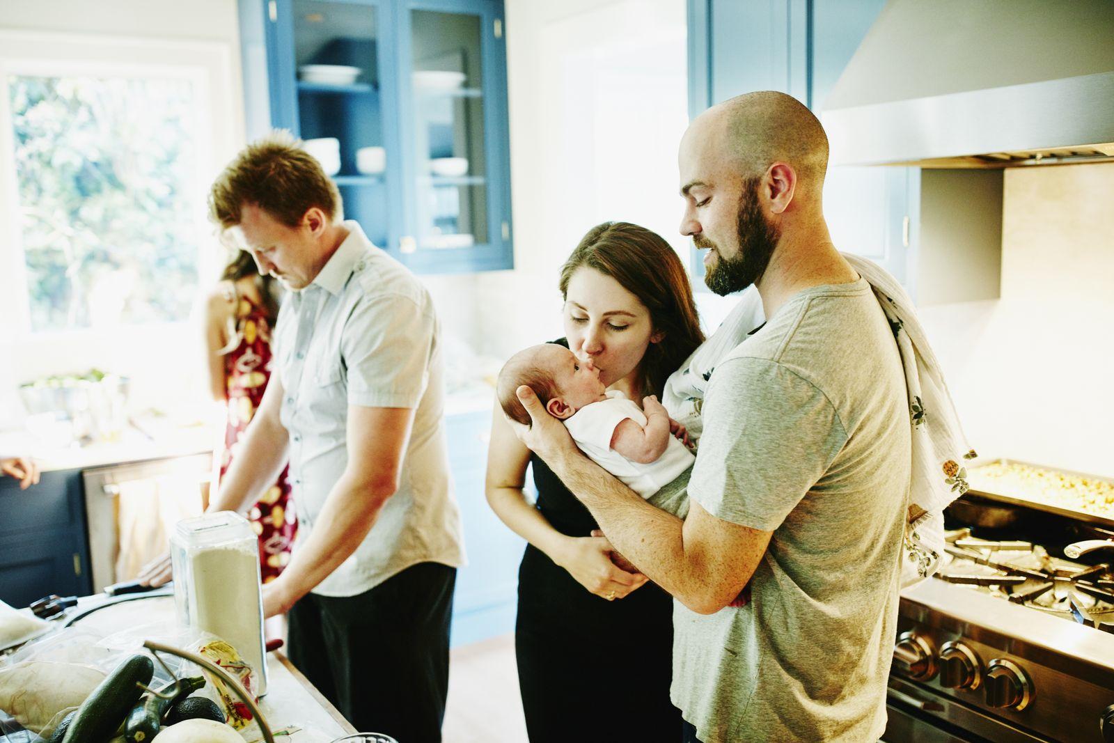 EINMALIGE VERWENDUNG Familie Baby