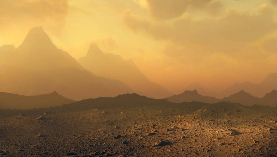 Künstlerische Darstellung der Venus-Oberfläche