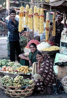 Hubli im Bundesstaat Karnataka: Hier findet das Leben auf der Straße statt