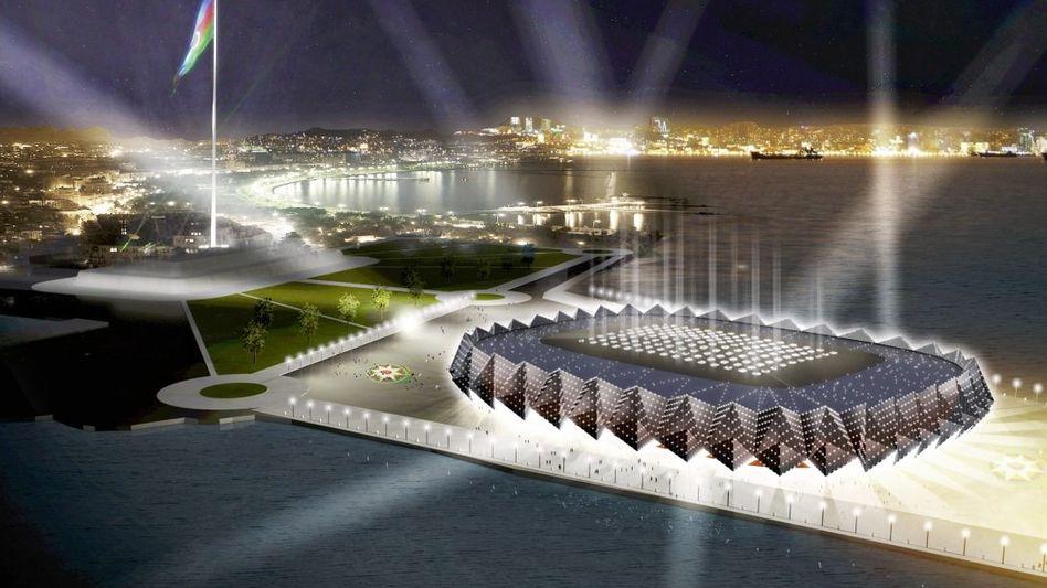 Neue Arena von Baku (Computersimulation)