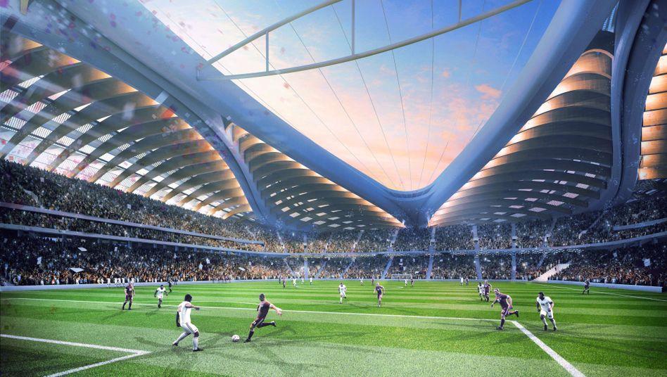 Geplantes WM-Stadion in Katar: Neues System basiert auf Arbeitsverträgen