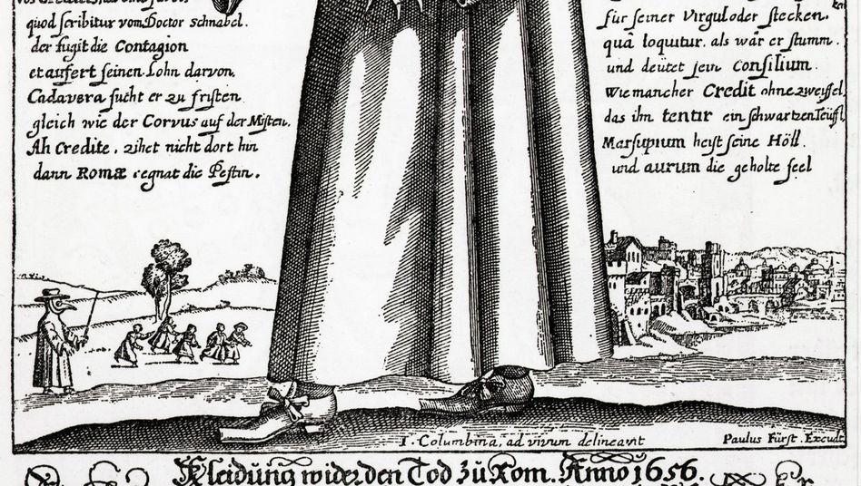"""Pest-Arzt im Mittelalter: Ursprung der Angstfigur """"Schwarzer Mann""""?"""