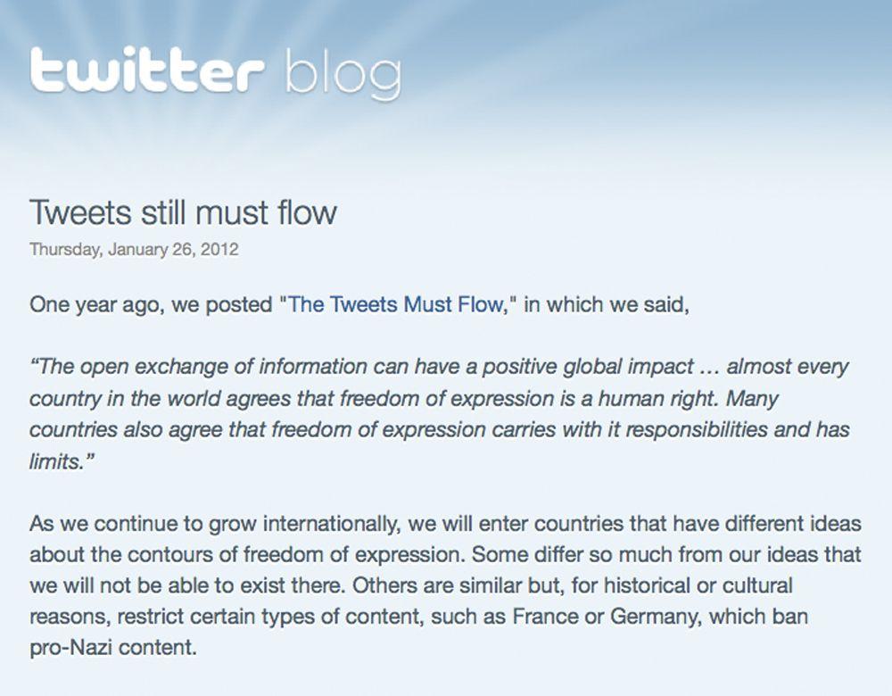 Twitter/ Zensur