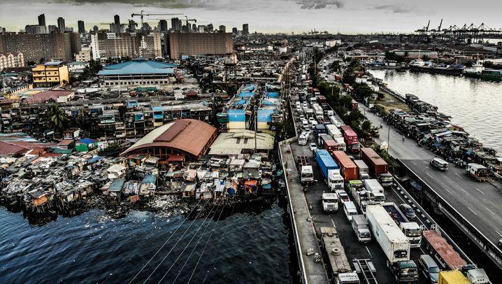 Müllfischer in Manila: Leben vom und im Müll