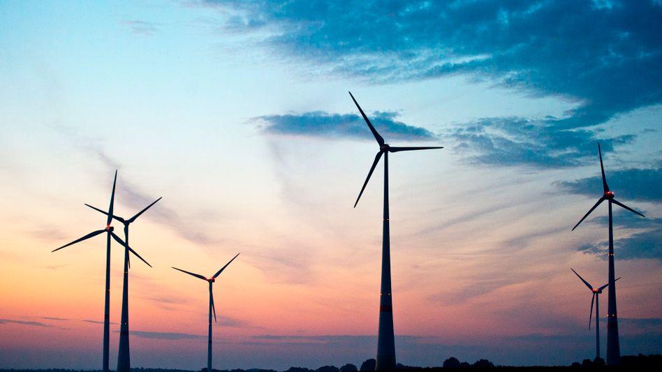 Windräder in Brandenburg (Symbolbild): Die Strompreise in Deutschland haben sich seit der Jahrtausendwende mehr als verdoppelt