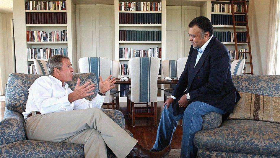 US-Präsident George W. Bush, Prinz Bandar bin Sultan (2002)