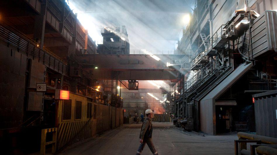 Arbeiter im Stahlwerk von Salzgitter: Erhebliche Risiken