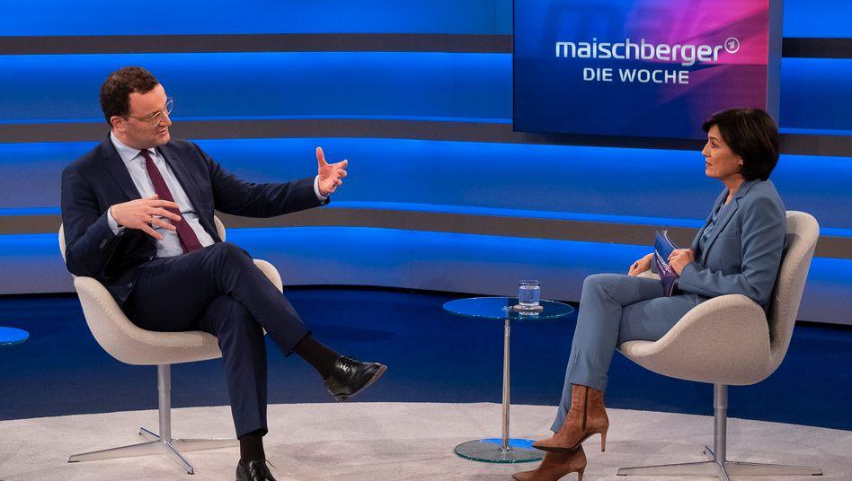 Gescholten, selten geschont und nie gelobt: Jens Spahn bei Sandra Maischberger