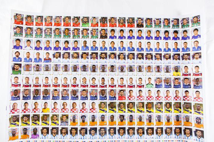 2014 auffällig oft vertreten: Die 200 Sticker dieses Druckbogens