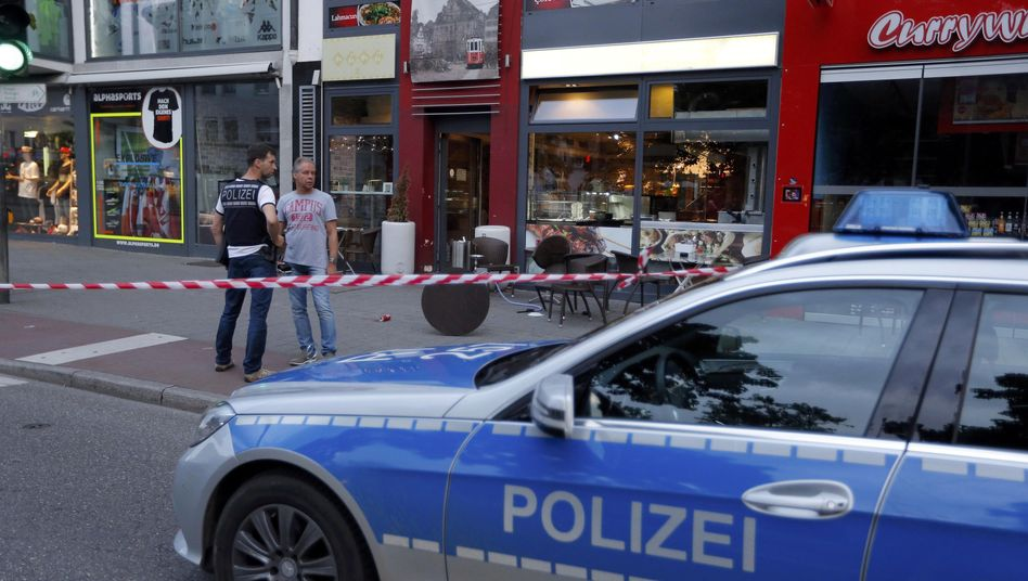 Polizeiabsperrung in Reutlingen