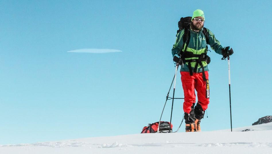 Mit dem Schlitten zum Südpol: Martin Szwed Anfang Januar in der Antarktis