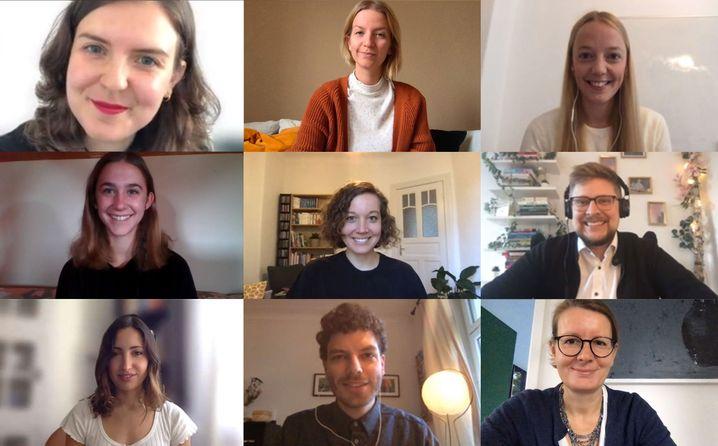 Das Team von links oben nach rechts unten: Katharina Hölter, Helene Flachsenberg, Viktoria Bolmer, Luisa Gruber, Sophia Schirmer, Sebastian Maas, Wiebke Bolle, Jan Petter und Helene Endres
