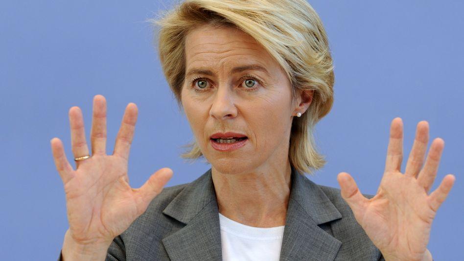 Bundesarbeitsministerin Ursula von der Leyen (CDU): SPD-Zahlen Schnee von gestern