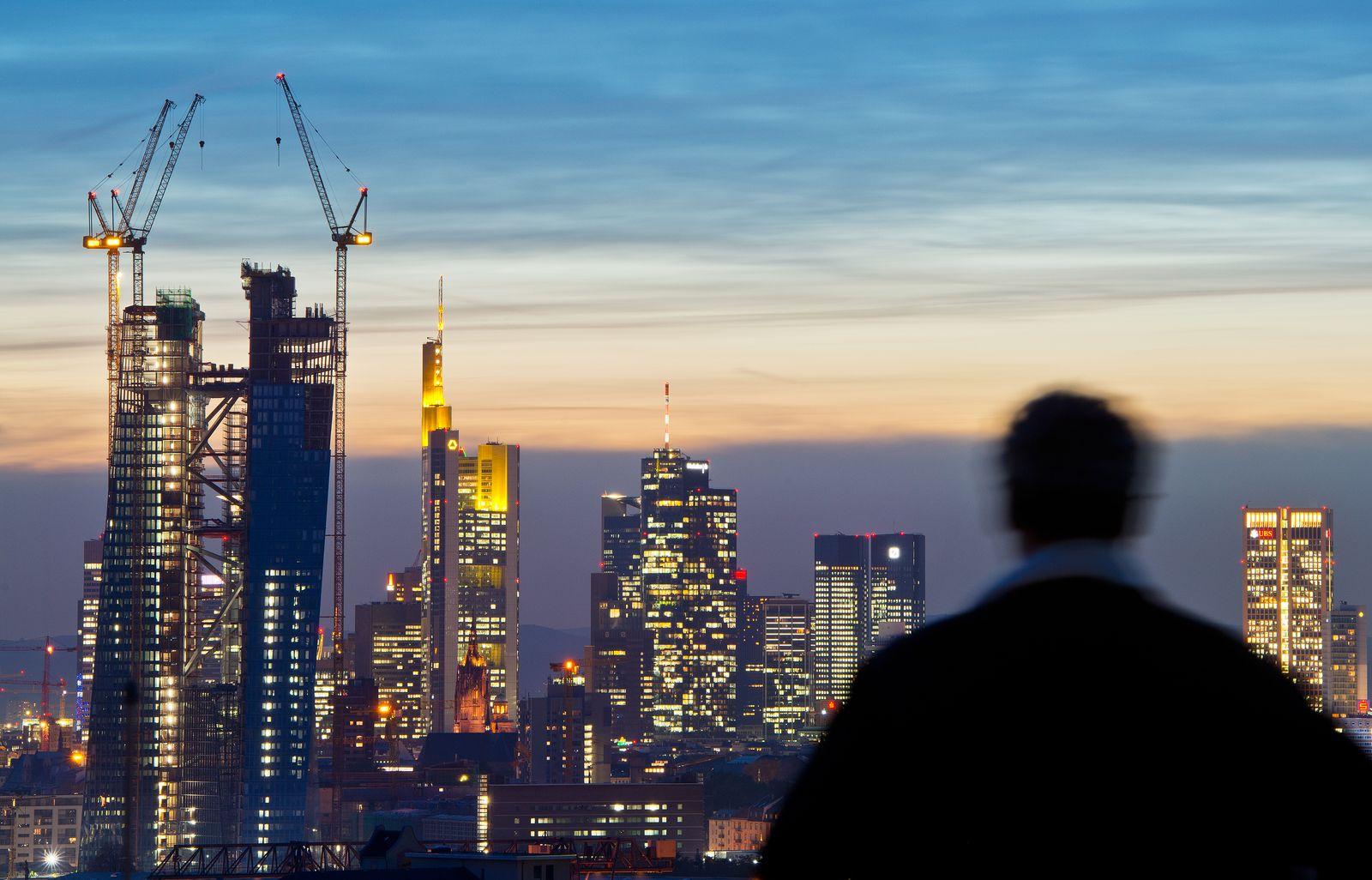 Frankfurt / Banken / Banken-Viertel / Skyline / EZB