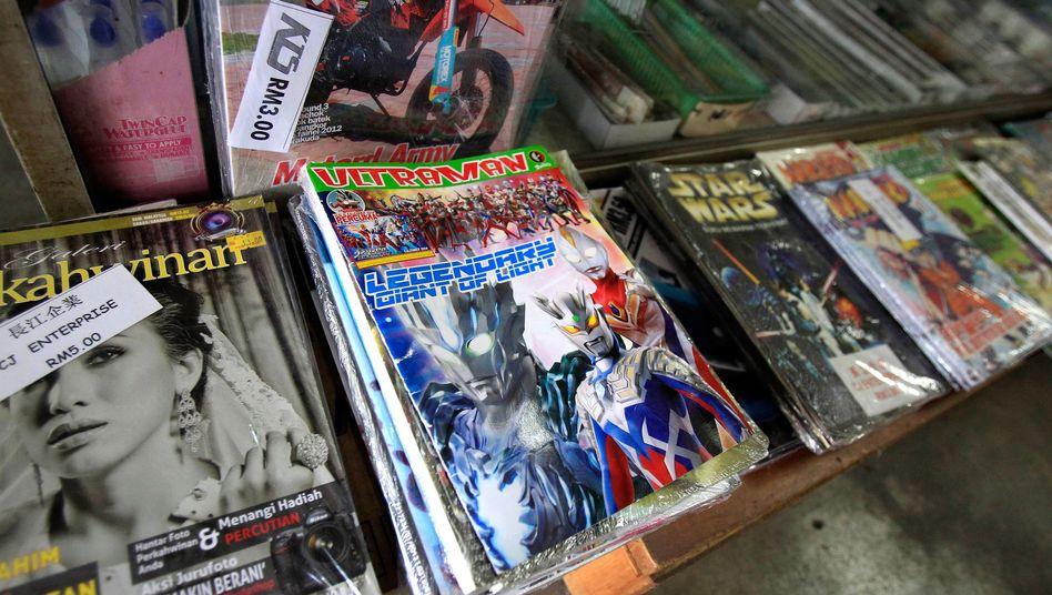 Ultraman-Comic in einem malaysischen Buchladen: Eine Gefahr für das Land?