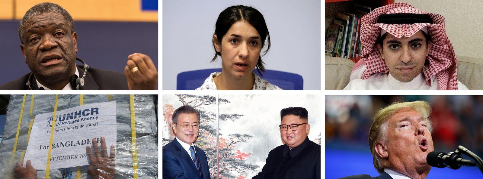 EINMALIGE VERWENDUNG COMBO/ Friedensnobelpreis