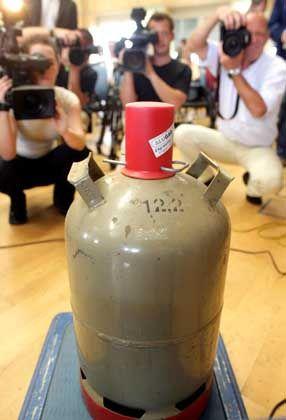 Anschlagsversuch: Eine solche Gasflasche sollte im Zug explodieren.