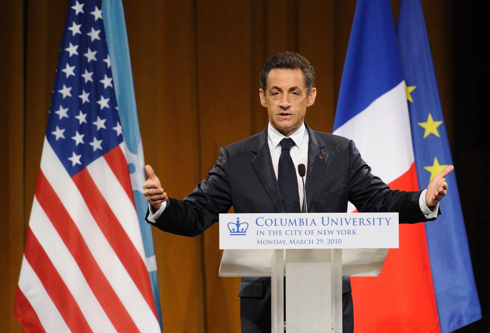 Nicolas Sarkozy, in den USA
