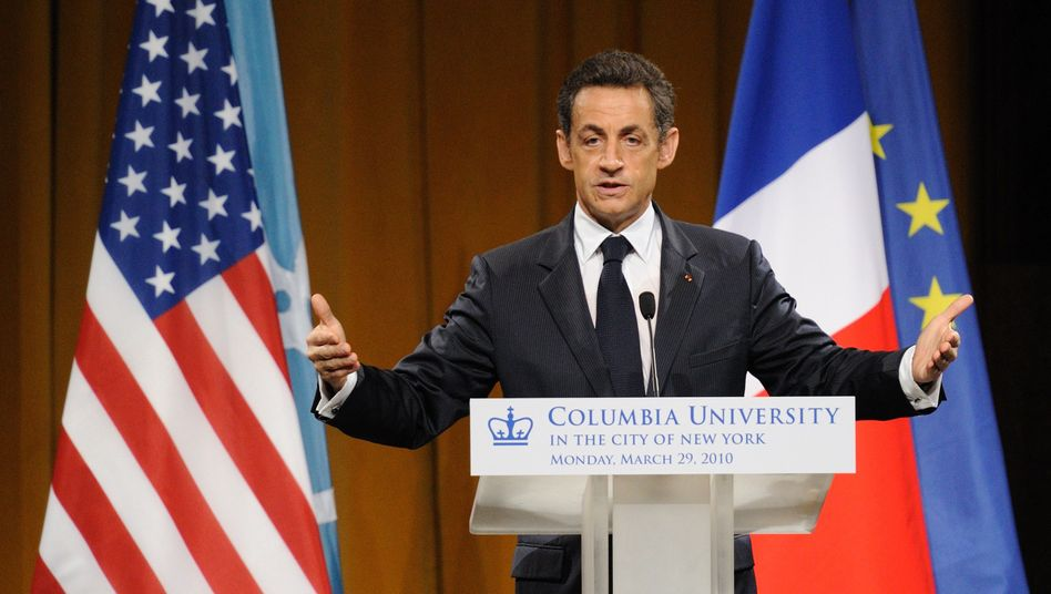 Nicolas Sarkozy: The French president during his speech on Monday to American students at New York's Columbia University